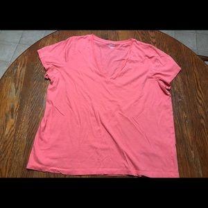 J Crew xxl coral tee shirt